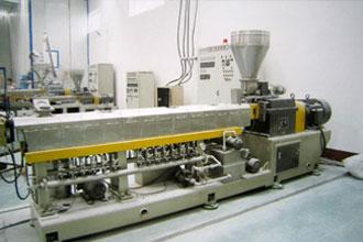 母料生产车间3台先进的双螺杆
